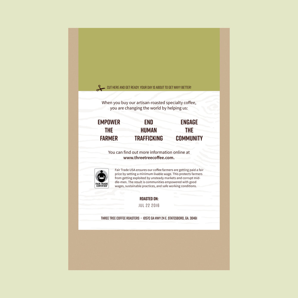 Back of the new fair trade label.