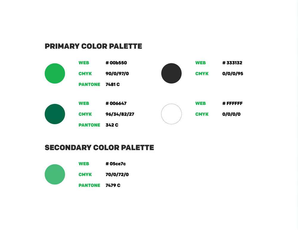 Color palette for Forest Heights Pharmacy.