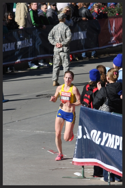 Rounding the last turn at the 2012 Olympic Trials