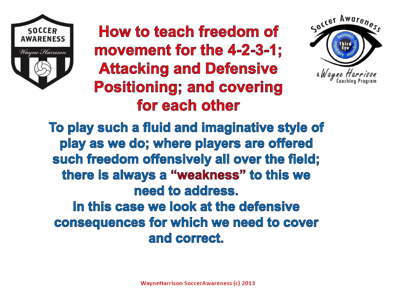 How to Teach Freedom of Movement for the 4-2-3-1; Attacking and Defensive Positioning and Covering for Each Other