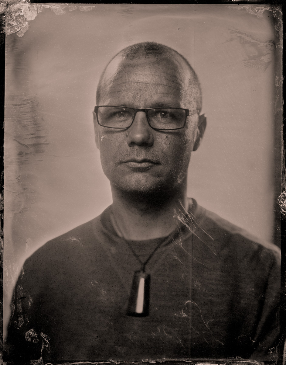 Lee Howell (a fine test subject) - Tintype by Paul Alsop and Luke White.