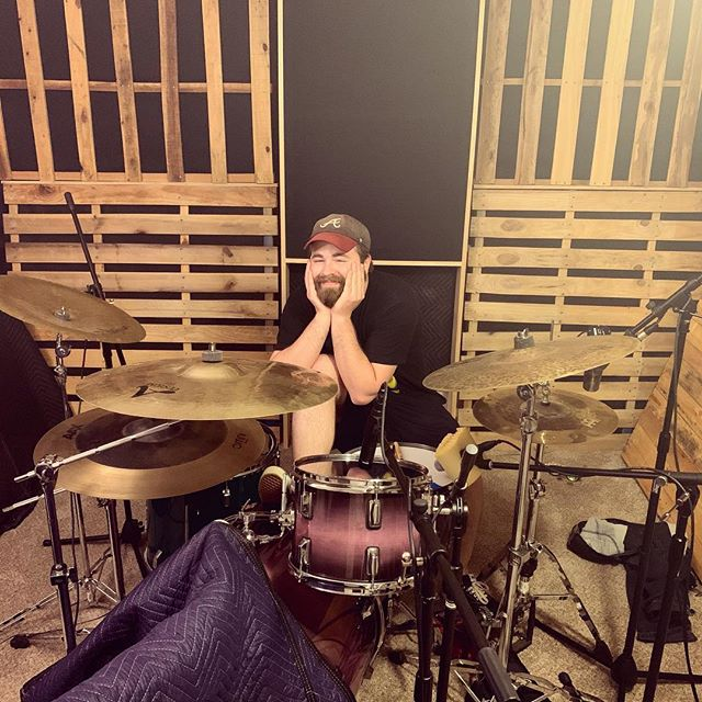 Yesterday we finished up drum tracking with @justinwren for the new @rosieandtheratdogs_ EP they have in the works. He's got these tracks sounding great so far! And with a face like that you know these tracks are slammin! Haha • • • • • #drums #meinl #cymbals #zildjian #evans #evansheads #vicfirth #studio #homestudio #recording #producing #production #protools #engineer #engineering  #songwriter #producer #atlanta #atl #atlantamusic #entertainment #work #athens #georgia #rock #mastering