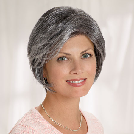 "From a hospital catalog of products for cancer survivors, this advertised wig shows exactly who everyone believes is the ""target market."""