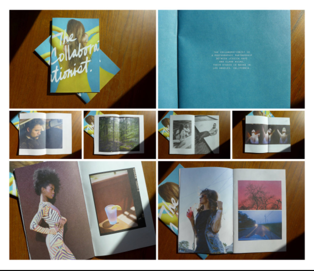 Yuri's work: Promotional zine for photographers The Collaborationist. Photo: Yuri Angela Chung
