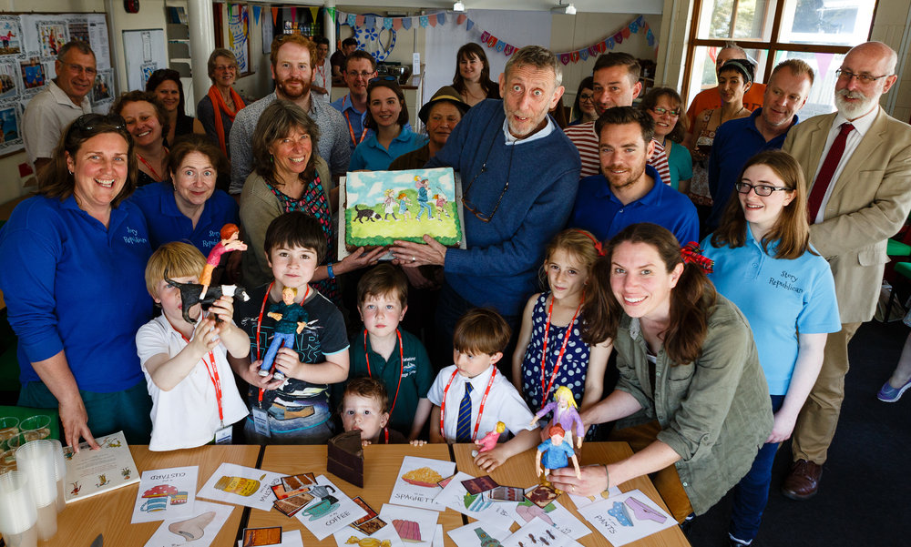Launch of 'We're Going On A Bear Hunt' with Michael Rosen, The Story Republic and Discover.