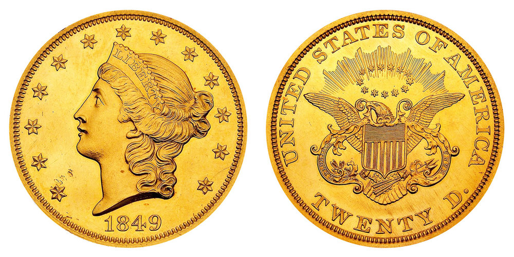 $20 Gold Double-Eagle, Liberty Type