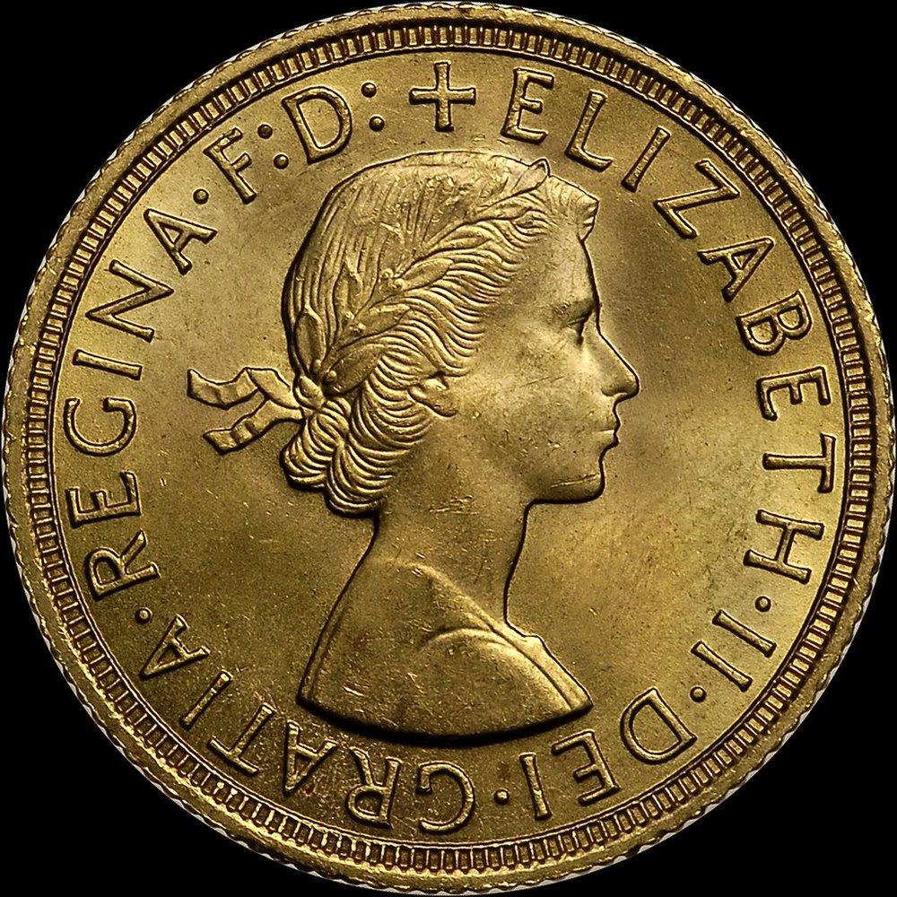 UK 1959_sovereign_Elizabeth_II_obverse.jpg
