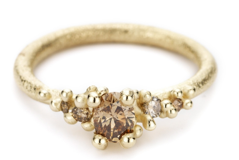 Champagne Diamond Encrusted Gold Ring by Ruth Tomlinson from E.C.One- £1,530.jpg