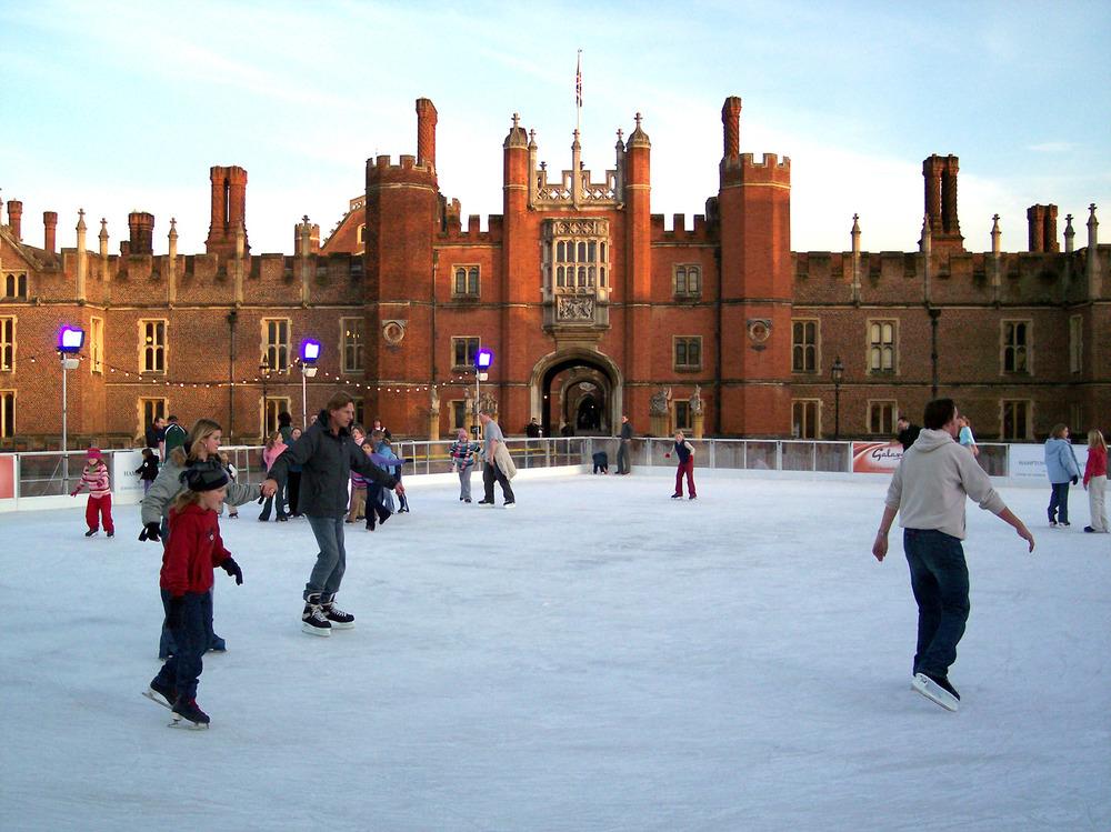 Hampton Cour Palace ice rink