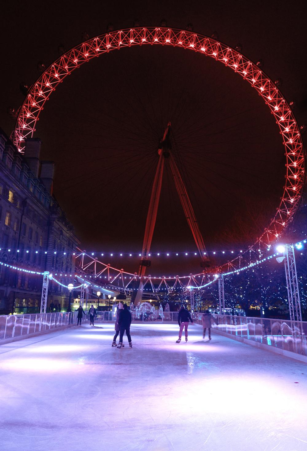 Eyeskate ice rink at the London Eye