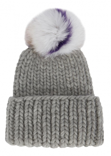 Eugina Kim- rain grey fur trimmed wool beanie- £205.jpg
