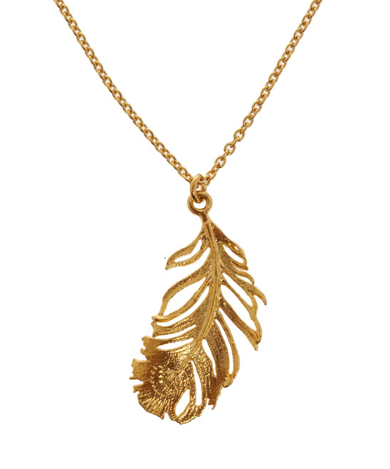 Feather necklace by Alex Monroe