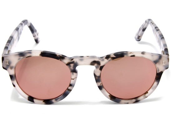 Rose gold sunglasses by Illesteva