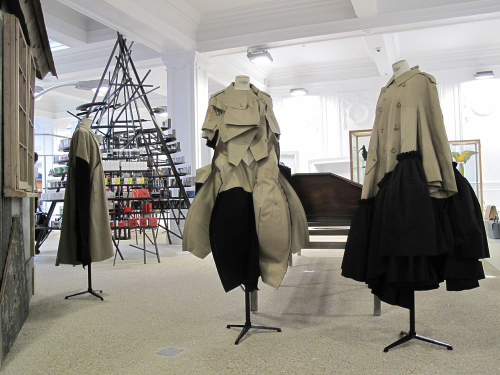 DOVER STREET MARKET - Ground Floor - Special Edition Vintage Burberry Coats by COMME des GARCONS.JPG