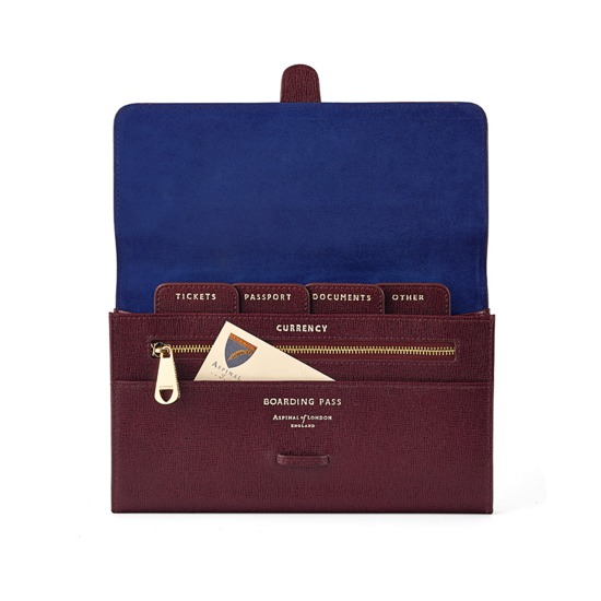 Travel wallet – £130 from Aspinal of London