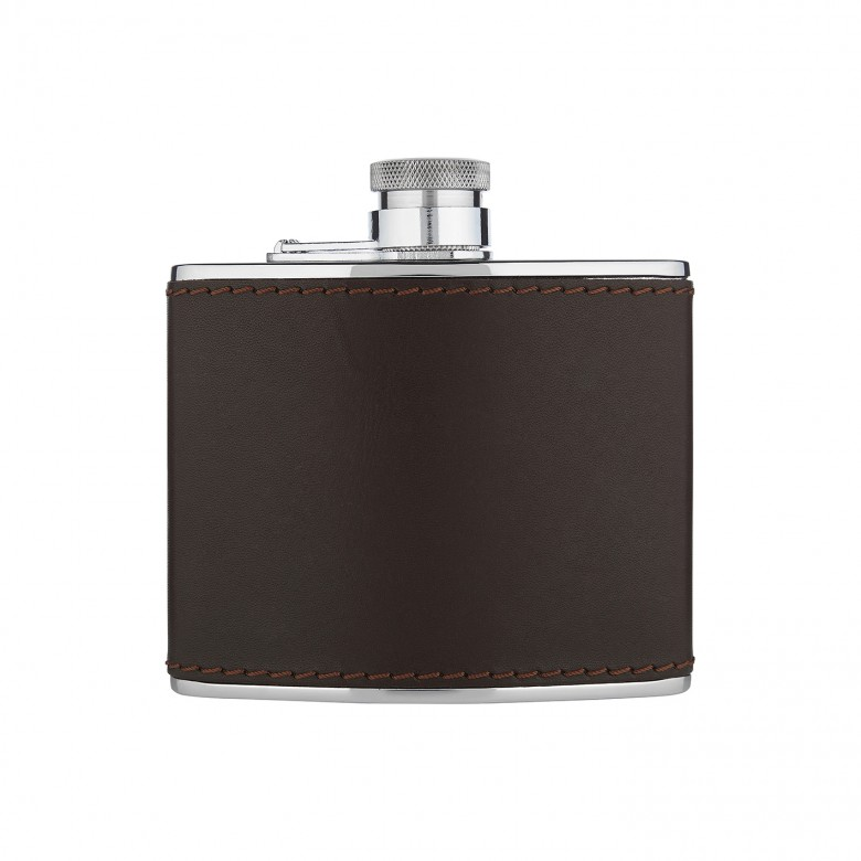 Cowhide hip flask – £80 from William & Son