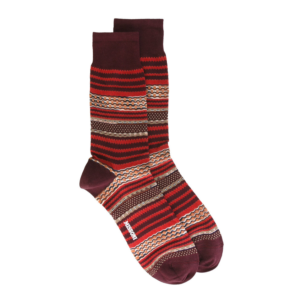 Missoni socks – £30 from The Shop at Bluebird
