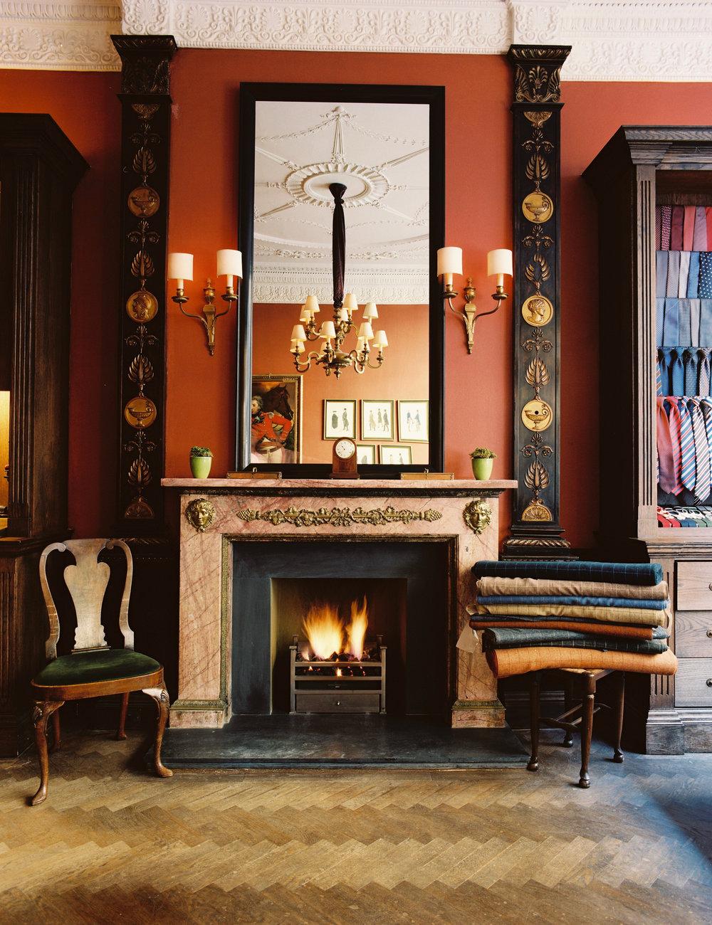 Anderson & Sheppard Bespoke Shop Fireplace.jpg