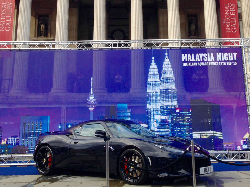 Lotus displays new Evora 400 in Trafalgar Square