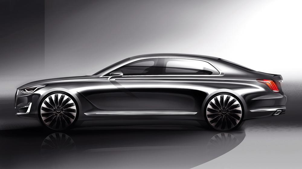 Hyundai Genesis brand teases first car