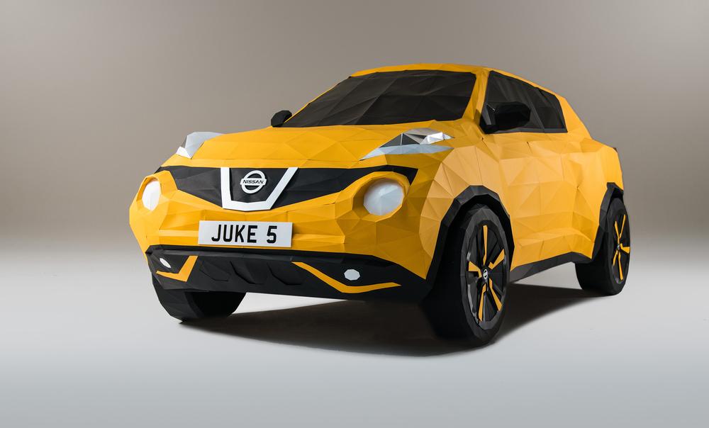Full-scale Origami Nissan Juke