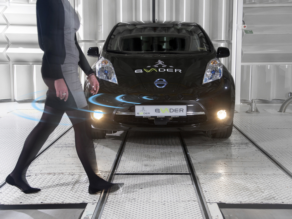 Nissan LEAF tests eVADER pedestrian recognition software