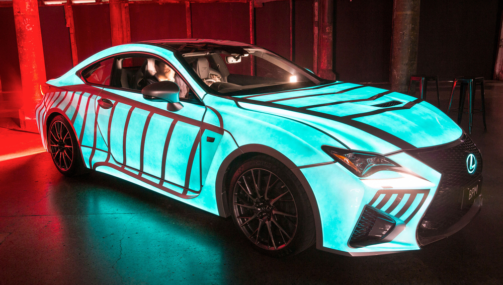 One-off Lexus RC F reacts to heartbeat