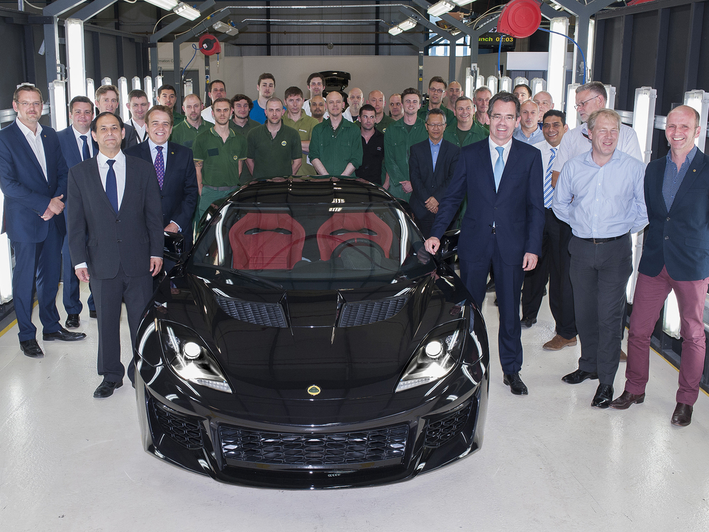 First Lotus Evora 400 leaves factory