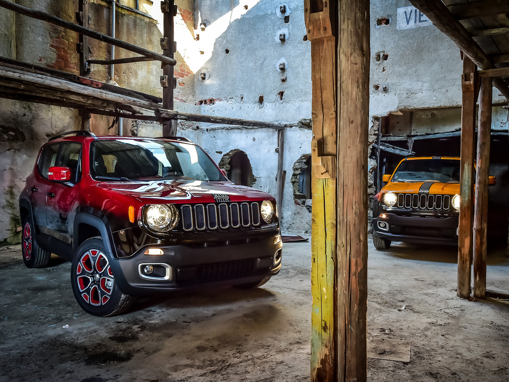 Jeep Renegade showcars in Montreux