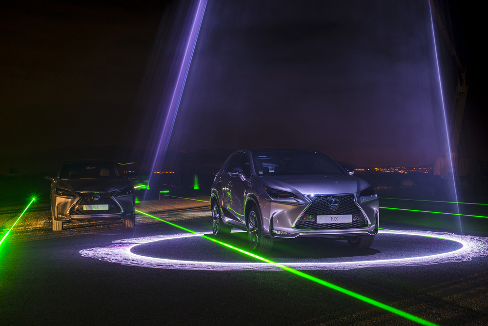 will.i.am and Lexus create Laser and sound spectacular