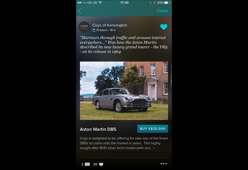 1964 Aston Martin DB5 sold by Coys for ?825,000 on Vero with Apple Pay_IN-APP.PNG