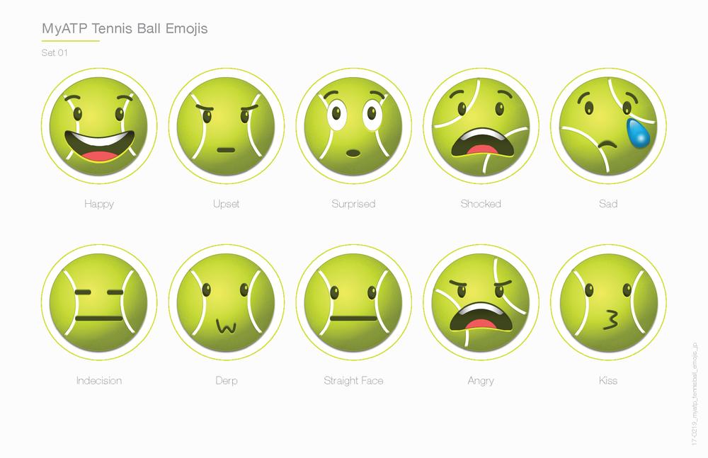 Tennis Emojis Jim Paniagua