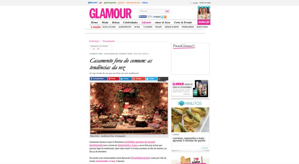 "21/09 - Site da revista ""Glamour"""