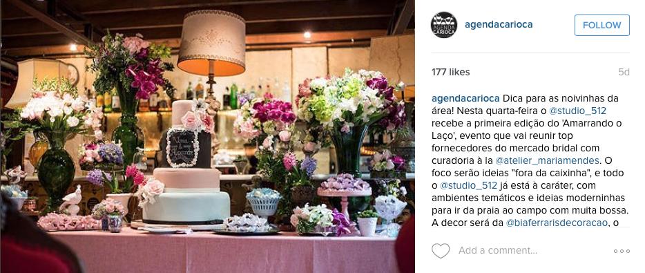 """21/09 - Instagram """"Agenda Carioca"""""""