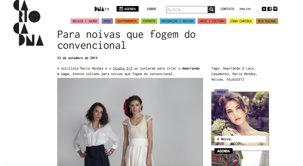 """23/09 - Site """"Carioca DNA"""""""
