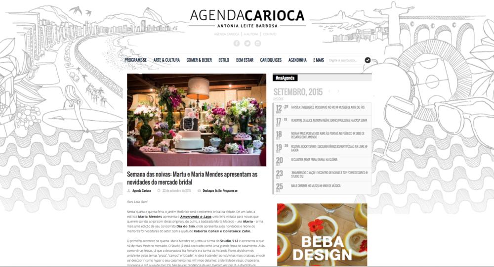 """22/09 - Site """"Agenda Carioca"""""""