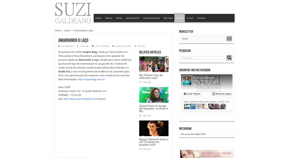 """23/09 - Site """"Suzi Galdeano"""""""