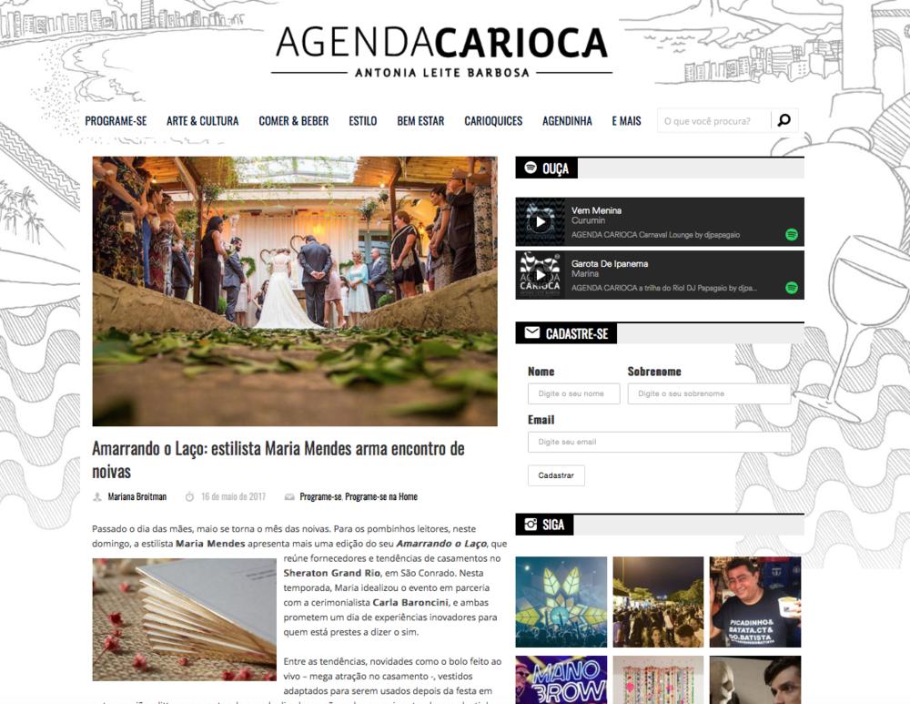 16/05 - Agenda Carioca
