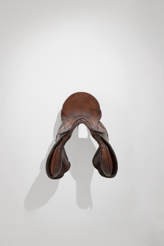 Skins (installation), Riding Saddle, leather, 2015