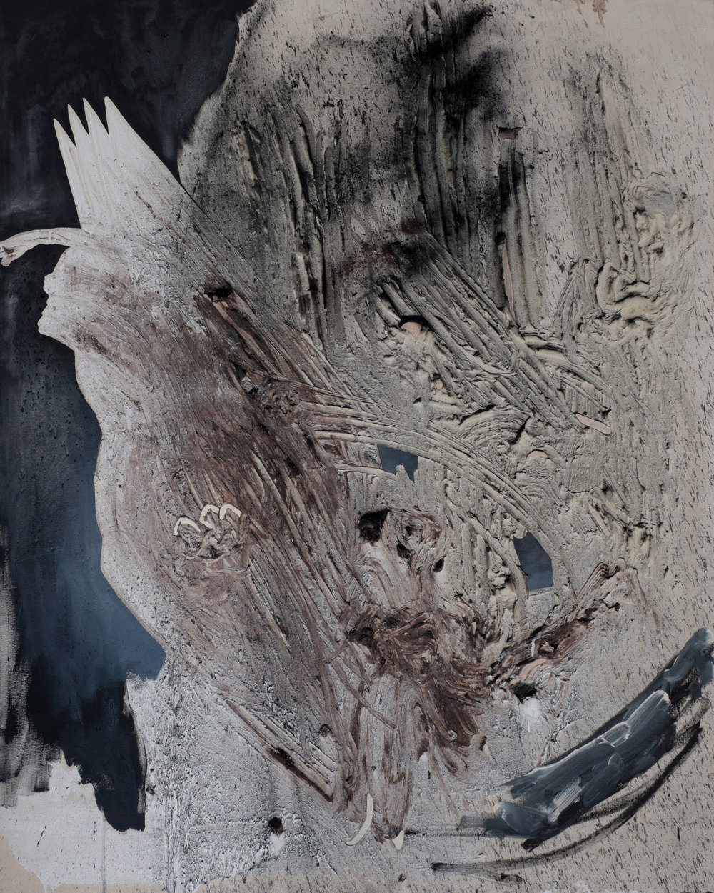 Lascaux 2, Cold Wax Medium, Oil, and Raw Pigments on Canvas, 6x5 feet, 2015