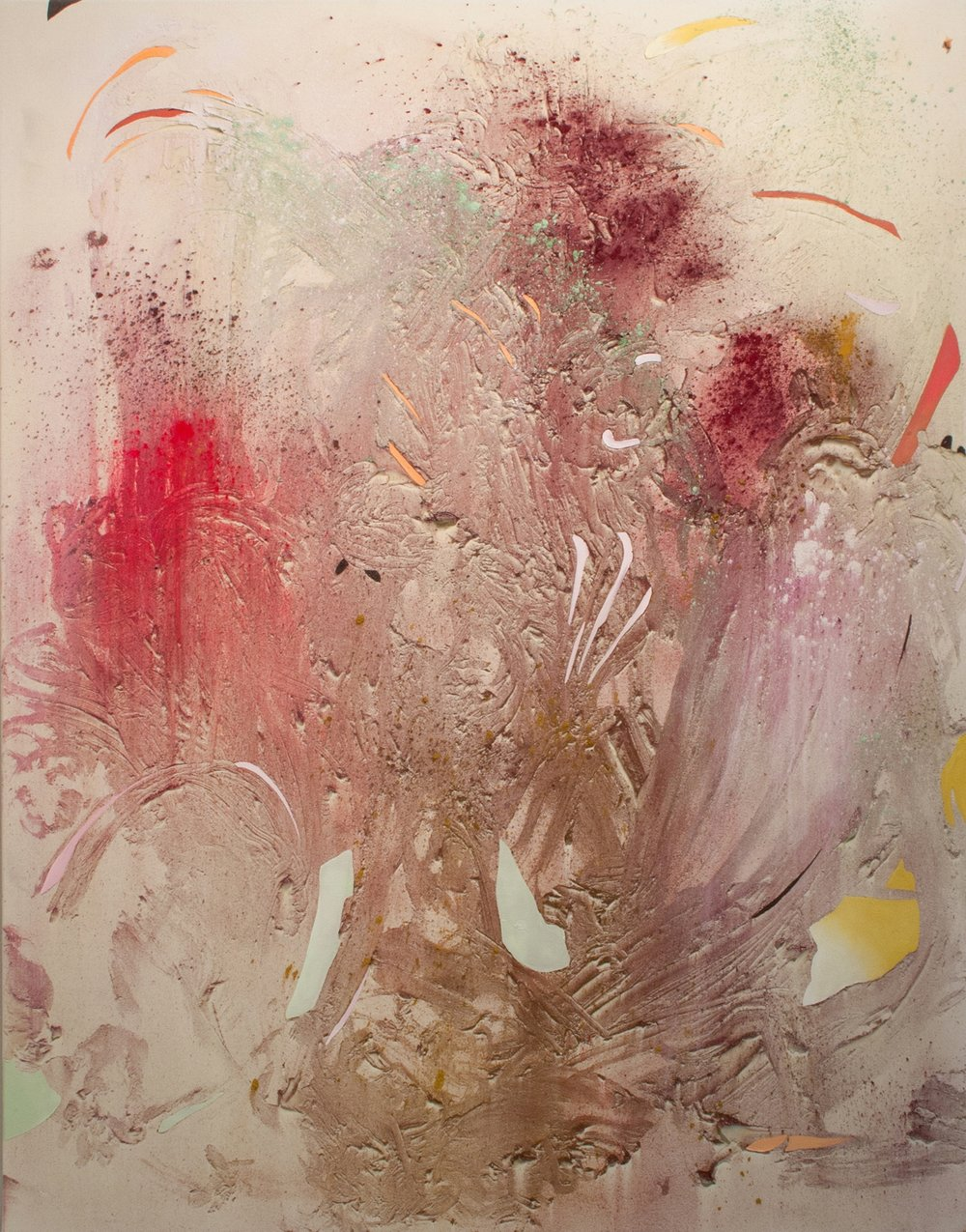 Megacaldera 1, Cold Wax Medium, Raw Pigments, and Oil on Canvas, 5x4 feet, 2016