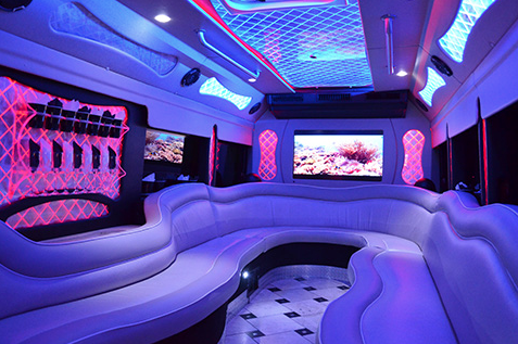 Enjoy the luxurious interior of a party bus! Book us for your next rochester ny event