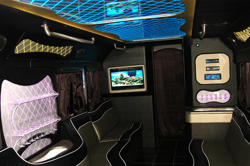 Check our the stylish interior of our largest partybus! Reserve this for your next rochester ny event