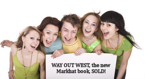 Attractive young people break out into spontaneous, unstaged celebrations upon hearing about the new Markhat book.