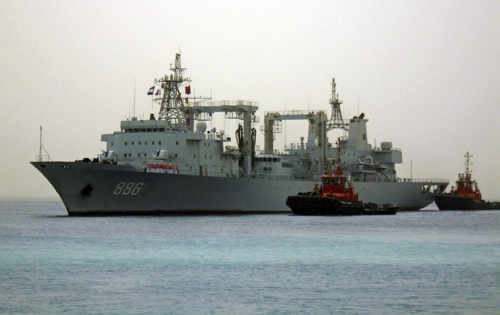 Chinese navy warships arrive at the seaport of Port Sudan August 25, 2015. The Chinese navy warships are at the seaport of Port Sudan as part of military cooperation between the two countries, according to the Sudanese Armed Forces (SAF). REUTERS/Stringer (Mohamed Nureldin Abdallah/Reuters)