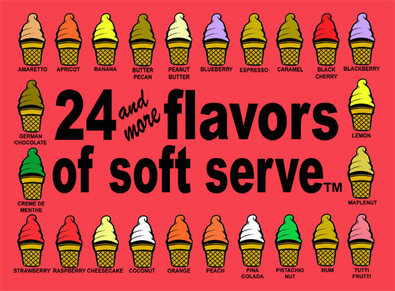 flavored ice cream cones