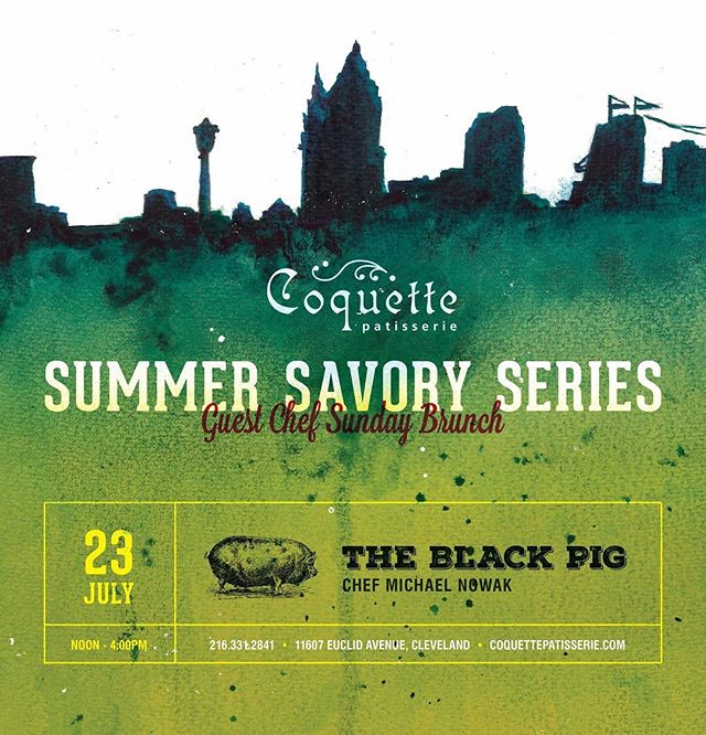 Join us as we participate in the @coquettepastry Summer Savory Series this Sunday starting at 12! See our events for menu details!