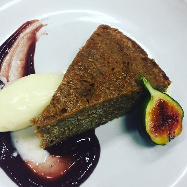 Pumpkin cake | Ohio fig, mascarpone ice cream