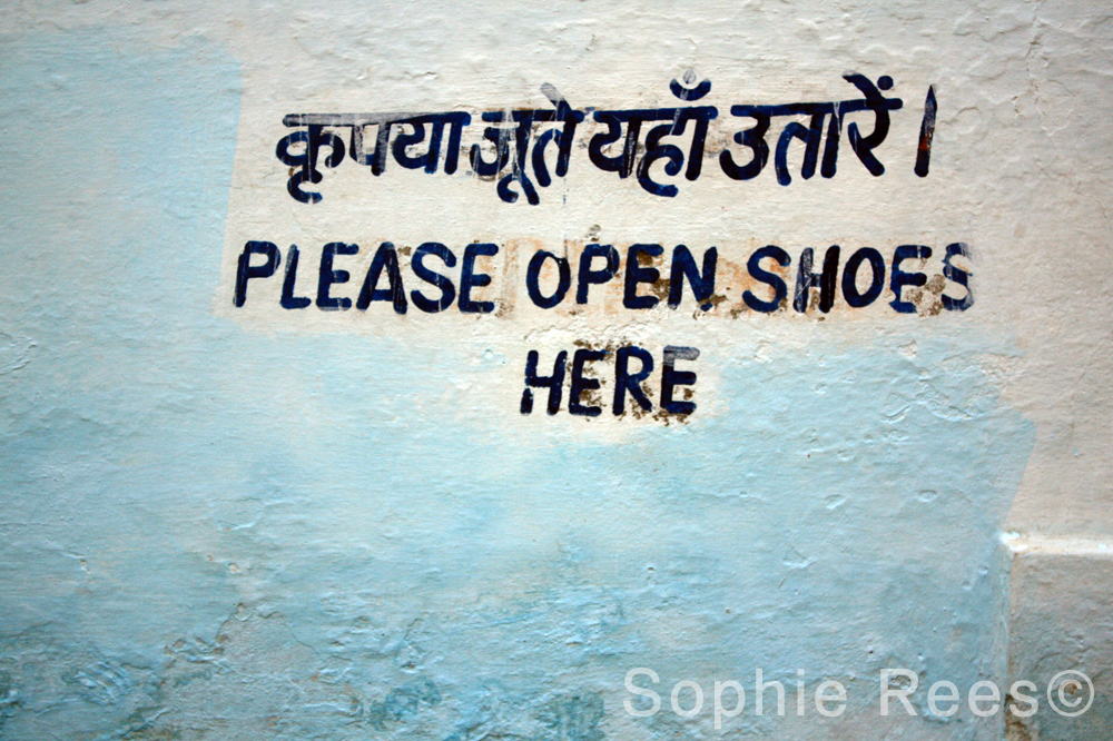 Please open shoes here, Udaipur, 2013
