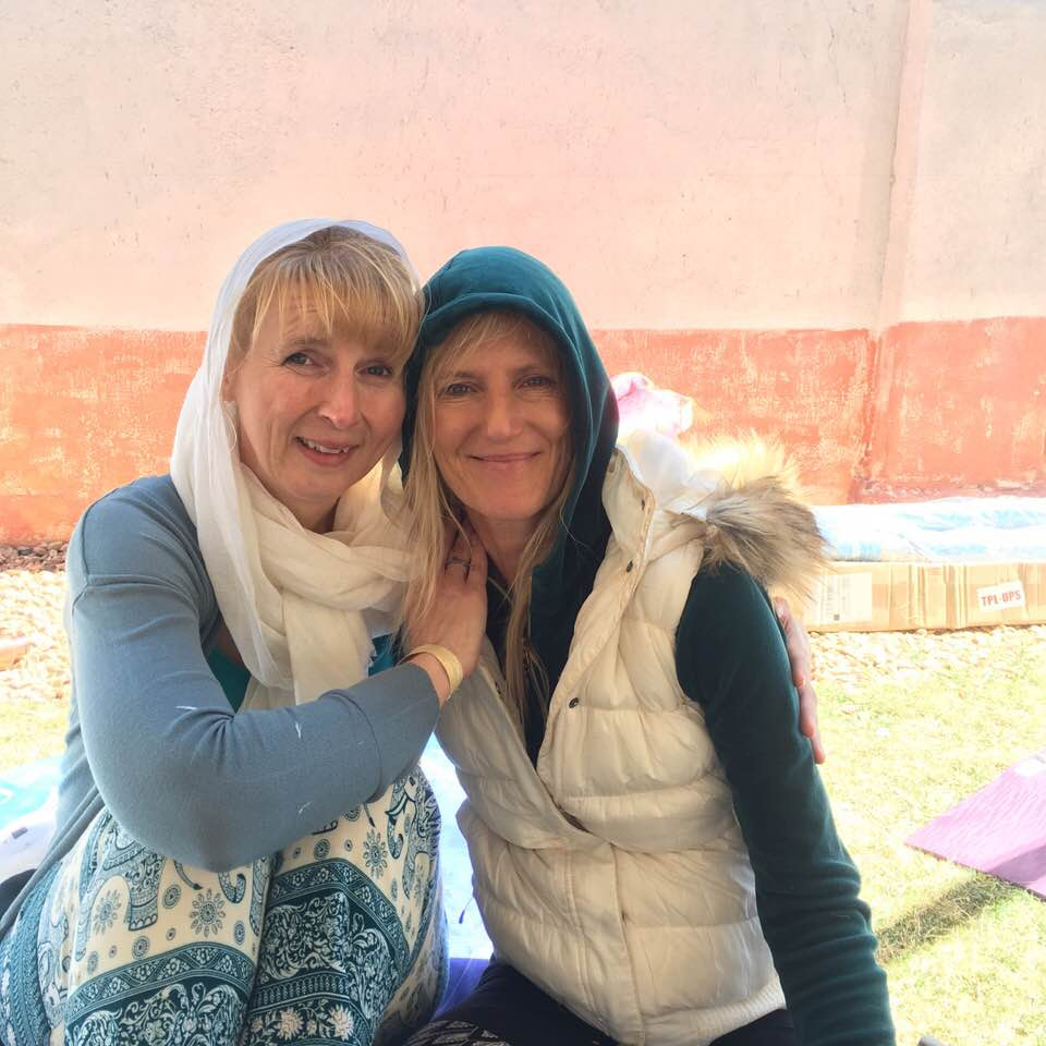 Susan and her Maha teacher, Shiva rea